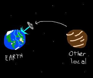 UFOs from the other local planets attack Earth