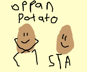 Potatoes partying!