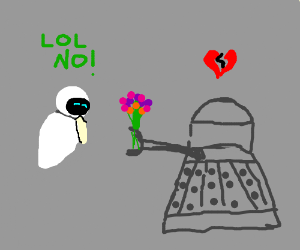 Dalek in love, heart broken