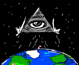 Eye of Providence watches over the Earth