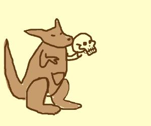 Kangaroo plays Hamlet