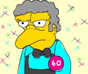 Moe is 60! Congratulations! *throws confetti*