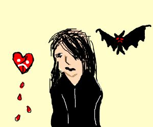 Draw something melancholy and moody