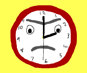 Wall clock is not impressed.