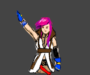 Dreams of pink haired girl giving Nazi salute