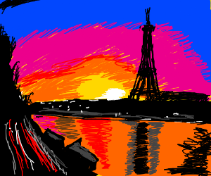 Coucher de soleil a Paris