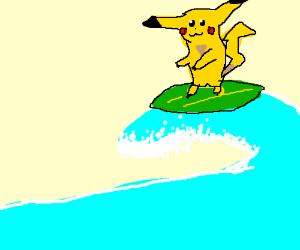 pikachu surfing