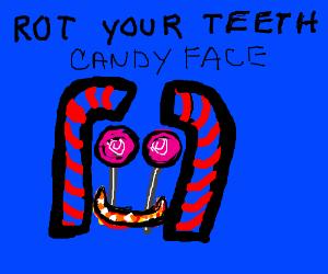Candy face maths