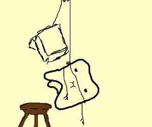 Man tries to hang self w/ dental floss, fails.