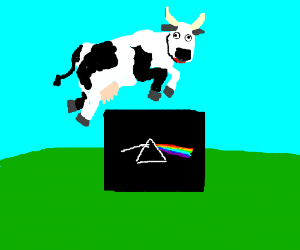The cow jumped over the Pink Floyd album