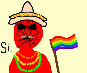 Spanish Spiderman at Mardi Gras