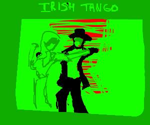 Girl tangos to traditional irish music