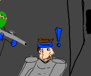 Solid Snake gets caught