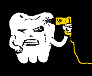 Tooth commits suicide. Drill to the face