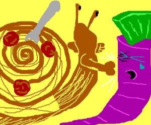 Snailghetti bullies purple carrotpunk.
