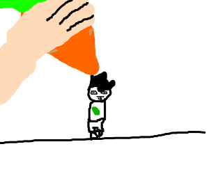 Homestuck is drawn with carrots