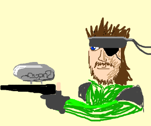 Solide snake plays paintball!