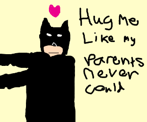 Batman loves a hug!