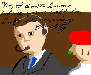 Heisenberg and Jessie run an operator service.