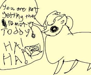 a pony hogs the remote