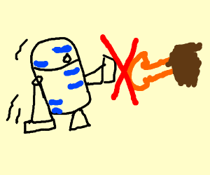 r2d2 can't shake hands