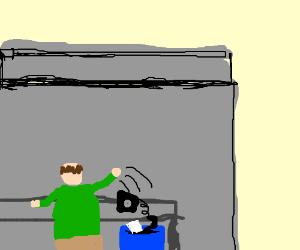 Telemarketer tries a weird technique