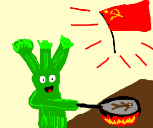 In Soviet Russia, vegetables cook YOU!
