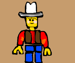 A LEGO cowboy disappoints his father.