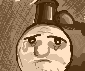 Thomas the Train is tired and depressed.