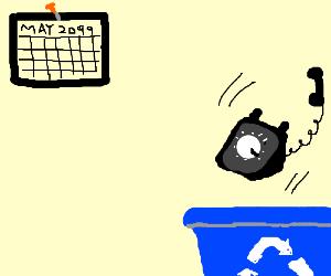Finally chucking rotary phone into recycle bin