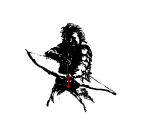 Novice archers should not do it while naked