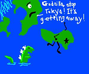 Oh, no, there goes Tokyo.  Go go Godzilla!