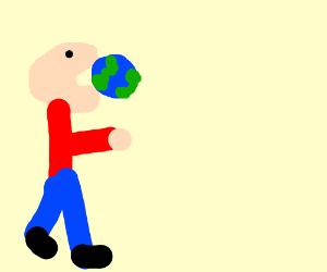 1 armed giant eats the earth
