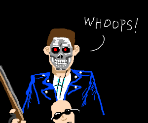 Oops! Terminator's face fell off!