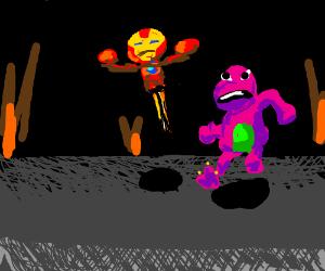 Iron Man/ Barney make an action movie