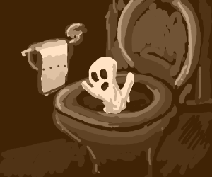 Ghost on the toilet