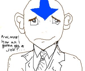 Avatar (air bender) seeking a job
