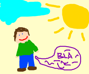 man talking with the sun