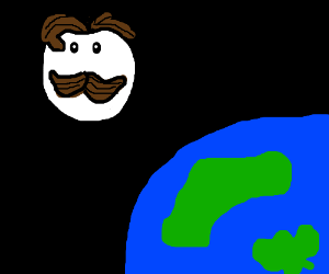 The Pringles guy is the moon