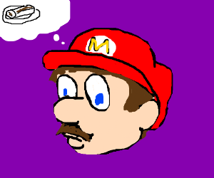 Mario thinks about burritos (me gusta)