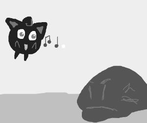 Jigglypuff sings. Blob is not amused