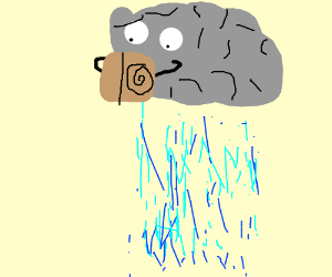 rain reads a book about swirls