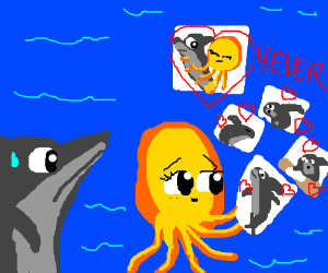 shark's octopus girlfriend is too clingy