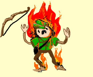 OMG ROBIN HOOD'S ON FIRE D: