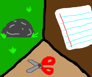 Rock, Paper, Scissors.