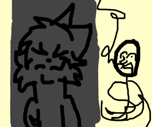 Thug Mouse holds stick figure hostage with uzi