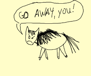 Poorly Drawn Horse Is Bothered By You Drawing By Hymmitjah