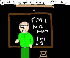 Mr. Garrison teaches poorly in the dark.