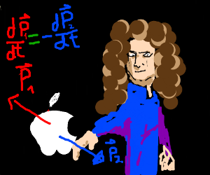 Newton tests third law of motion against apple