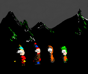 southpark characters in the dark